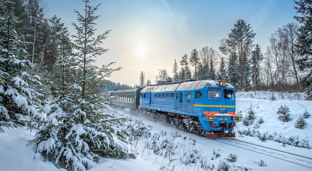 The Trans-Siberian Railway on the Europe-Asia route
